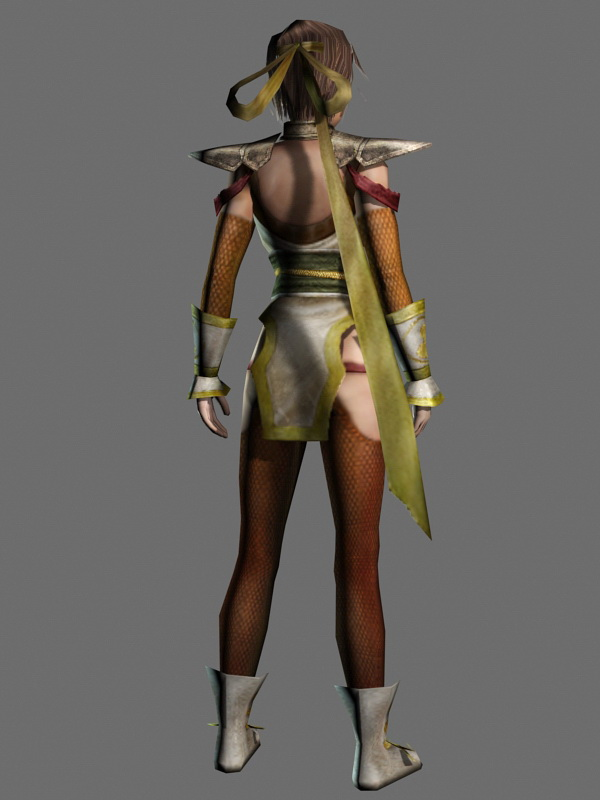 Chinese Warrior Princess 3d rendering