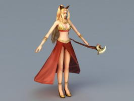 Anime Female Sorceress 3d preview