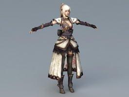Female Samurai Art 3d preview
