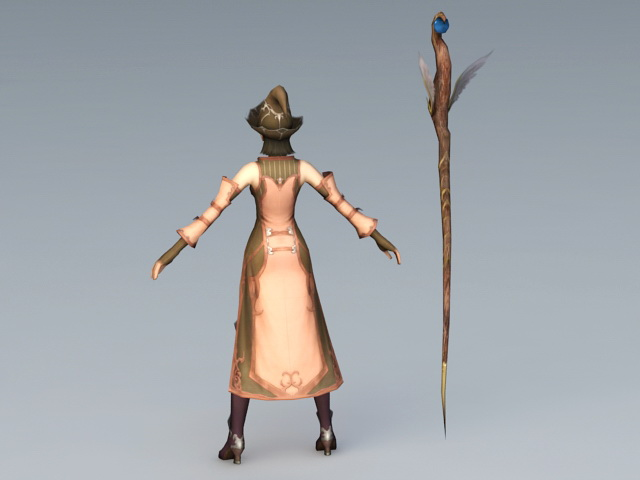 Mage of Insurgents 3d rendering