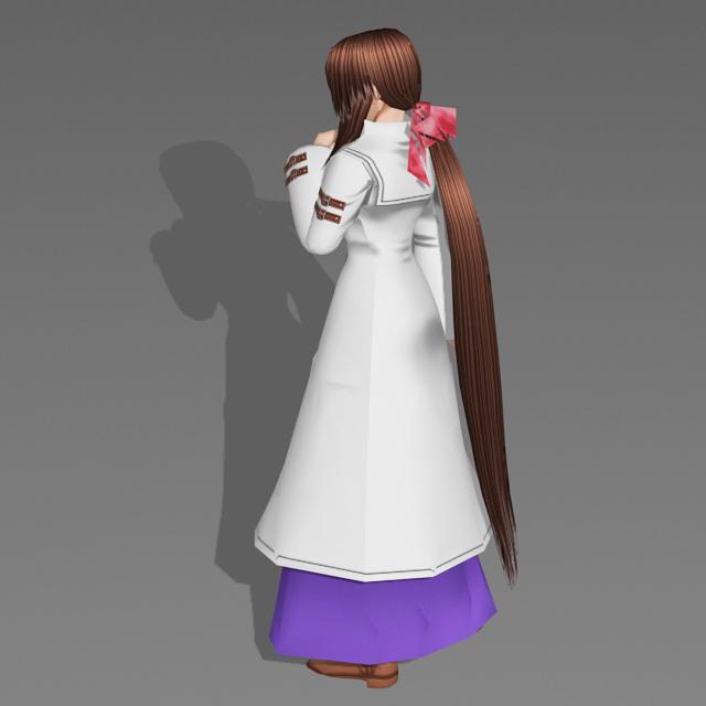 Anime Winter Girl 3d rendering