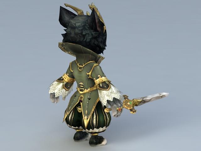 King of Cat 3d rendering