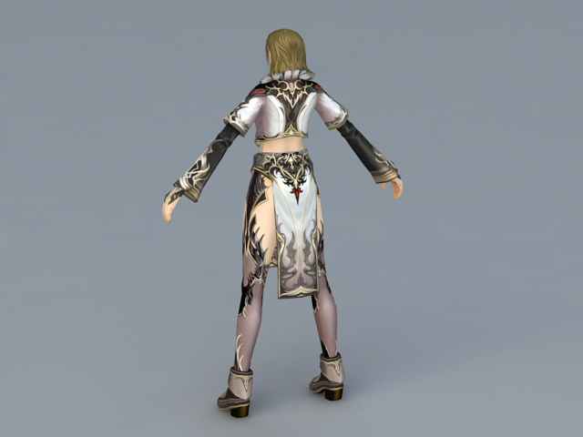 Female Sorceress Art 3d rendering
