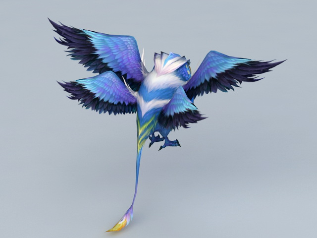 Anime Owl Character 3d rendering