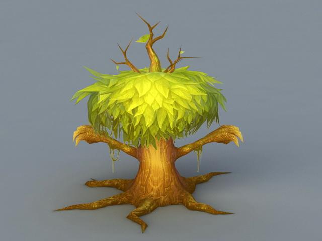 Green Treant 3d rendering