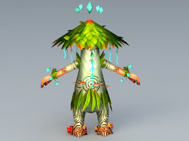 Cute Treant 3d rendering