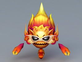 Fire Demon Monster 3d preview