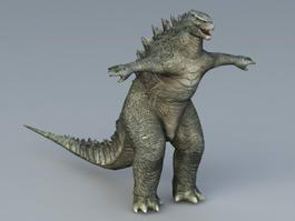 Godzilla Monster 3d model preview