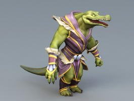 Humanoid Alligator 3d model preview