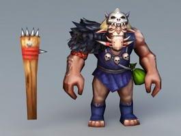 Cartoon Beast Warrior 3d model preview