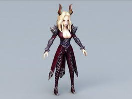 Beautiful Demon Woman 3d preview