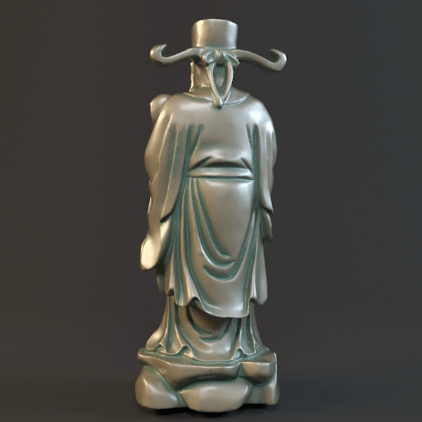 Chinese God of Wealth 3d rendering