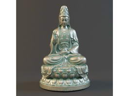 Seated Guan Yin Bodhisattva 3d preview