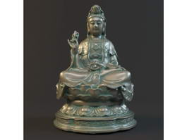 Guan Yin Goddess of Mercy 3d model preview