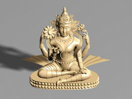 Buddhist Statue 3d model preview