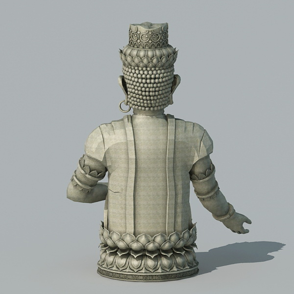 Ancient Buddha Statue 3d rendering