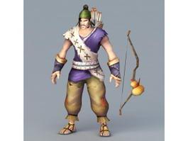 Male Archer Hunter 3d preview