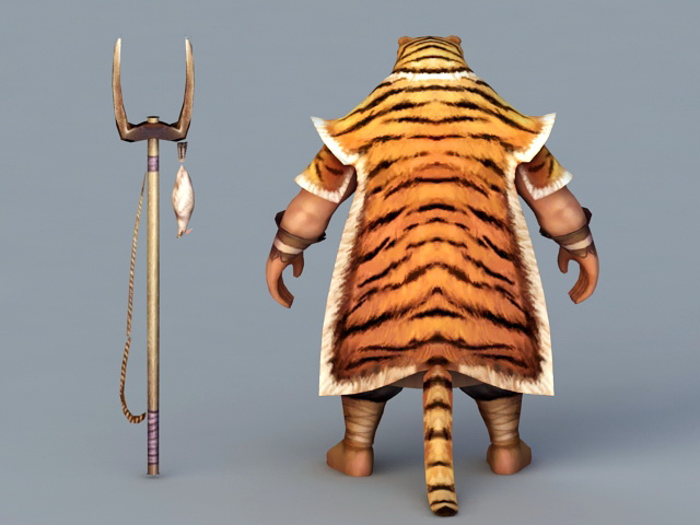 Barbarian Hunter 3d rendering