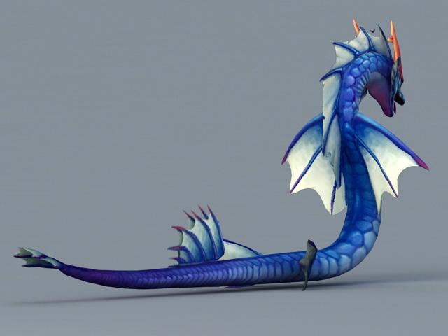 Sea Serpent 3d rendering