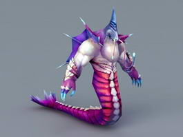 Naga Creature 3d preview