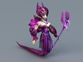 Female Naga Sorceress 3d preview