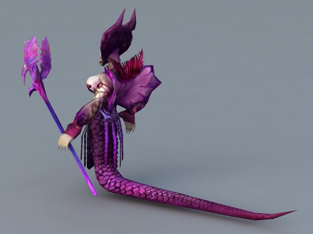 Female Naga Sorceress 3d rendering