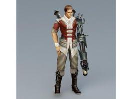 Male Cyborg Art 3d preview
