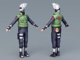 Kakashi Hatake Character 3d model preview