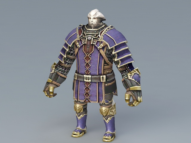 Final Fantasy Galka 3d rendering
