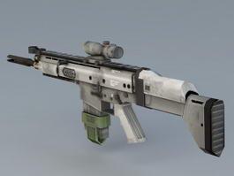 MK17 Sniper Rifle 3d model preview