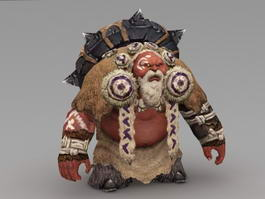 Orc Wizard 3d preview