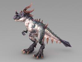 Demon Dinosaur 3d model preview