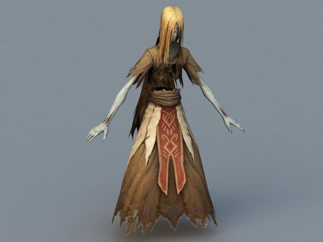 Banshee Ghost 3d rendering