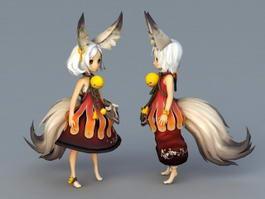 Anime Fox Girls 3d preview