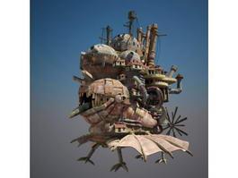 Howls Moving Castle 3d preview