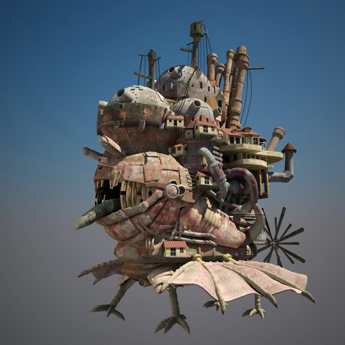 Howls Moving Castle 3d Model 3ds Max,Object Files Free