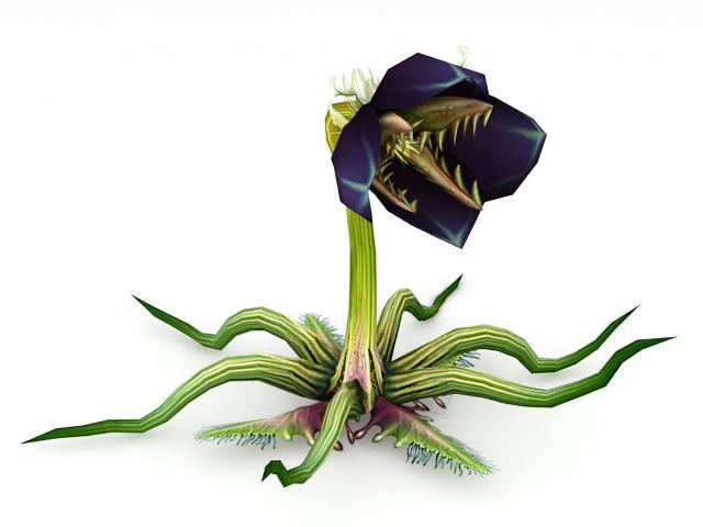 Anime Man-Eating Flower 3d rendering