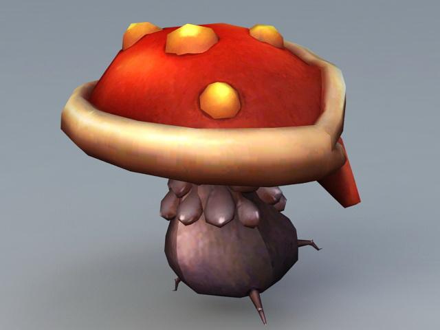 Mushroom Monster 3d rendering