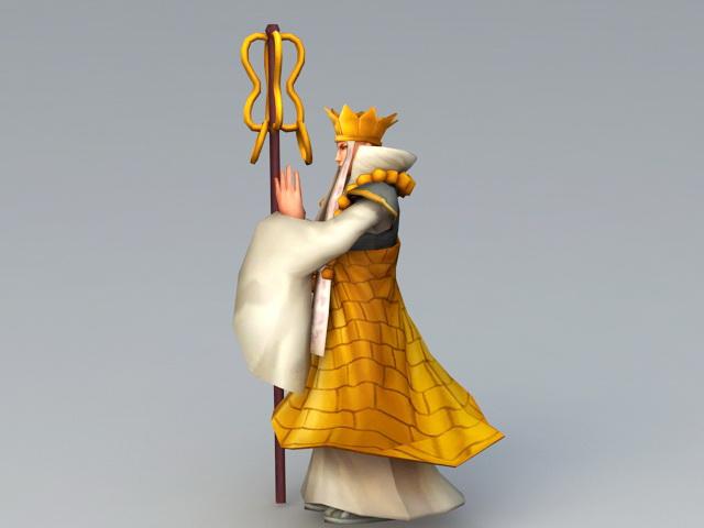 Xuanzang Character 3d rendering