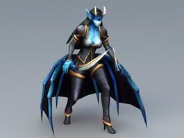 Queen of Pain 3d model preview