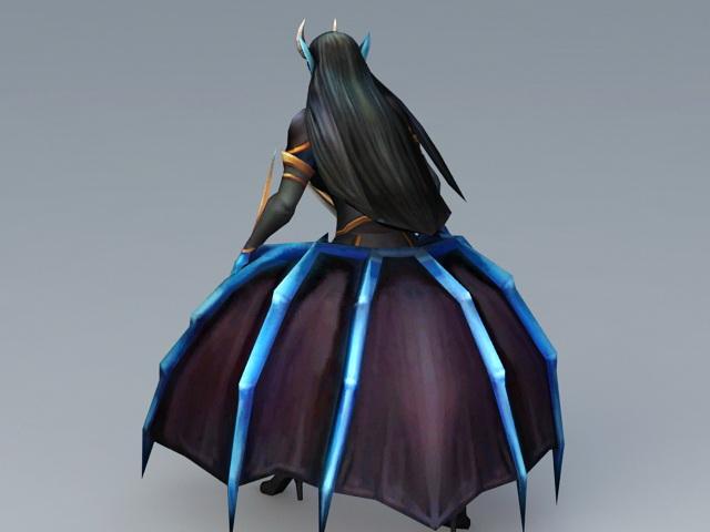 Queen of Pain 3d rendering