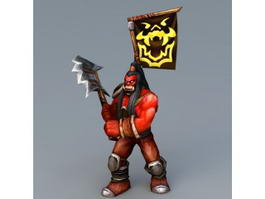 Orc Warrior Art 3d preview