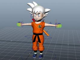 Dragon Ball Goku Rig 3d preview