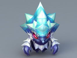 Anime Ice Hedgehog 3d model preview