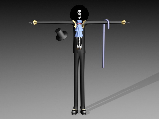 One Piece Brook 3d rendering