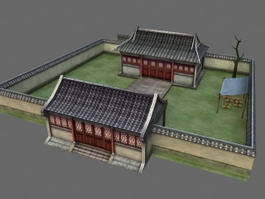 Peasant Courtyard House 3d model preview