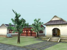 Ancient China Structures 3d model preview