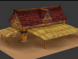 Horse Stable 3d preview