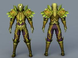 Forest Elven Guardian 3d preview