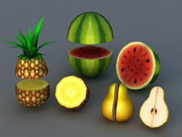 Low Poly Fruit 3d preview